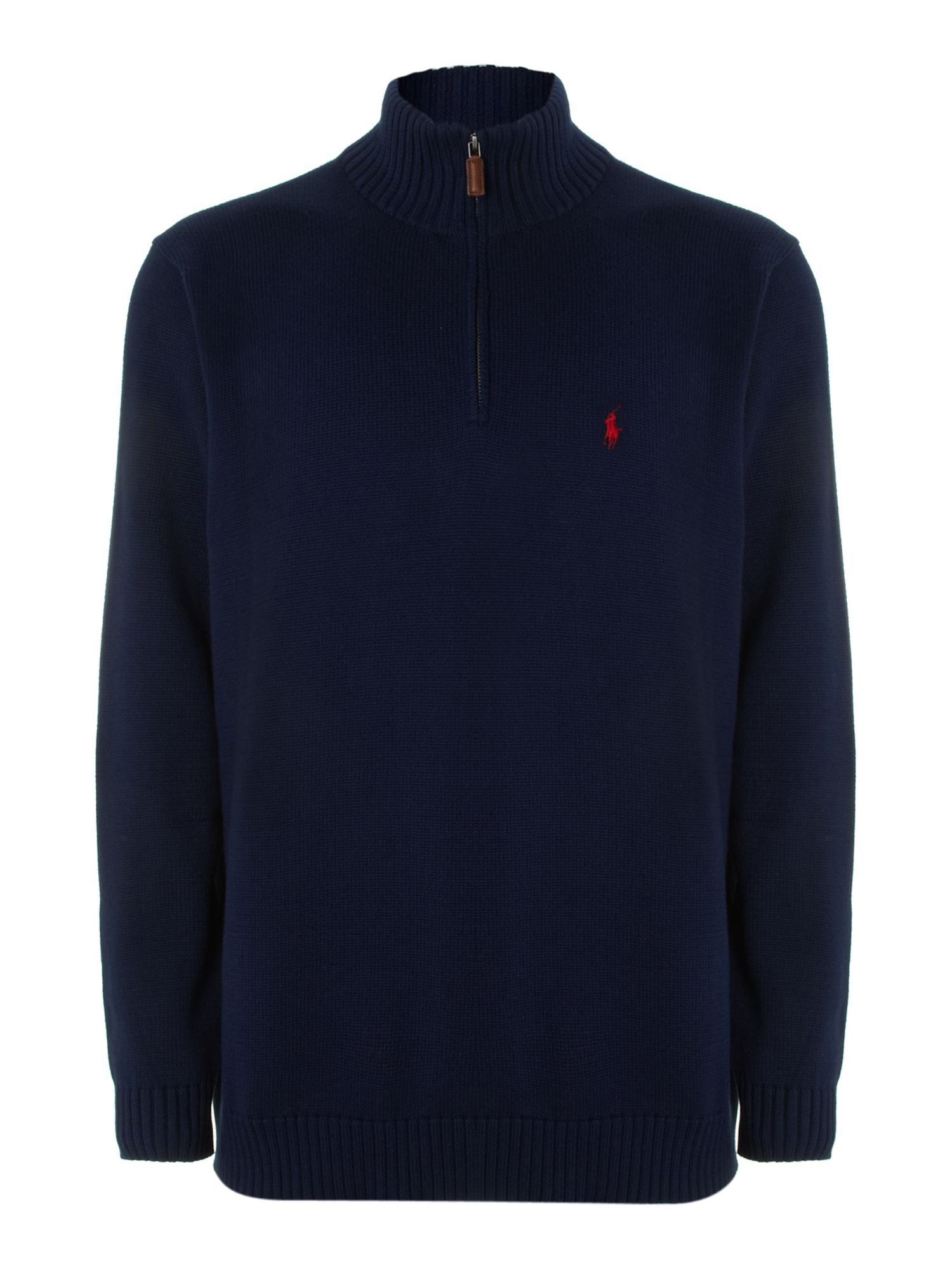 Polo ralph lauren big and tall half zip through jumper in for Big and tall polo shirts on sale