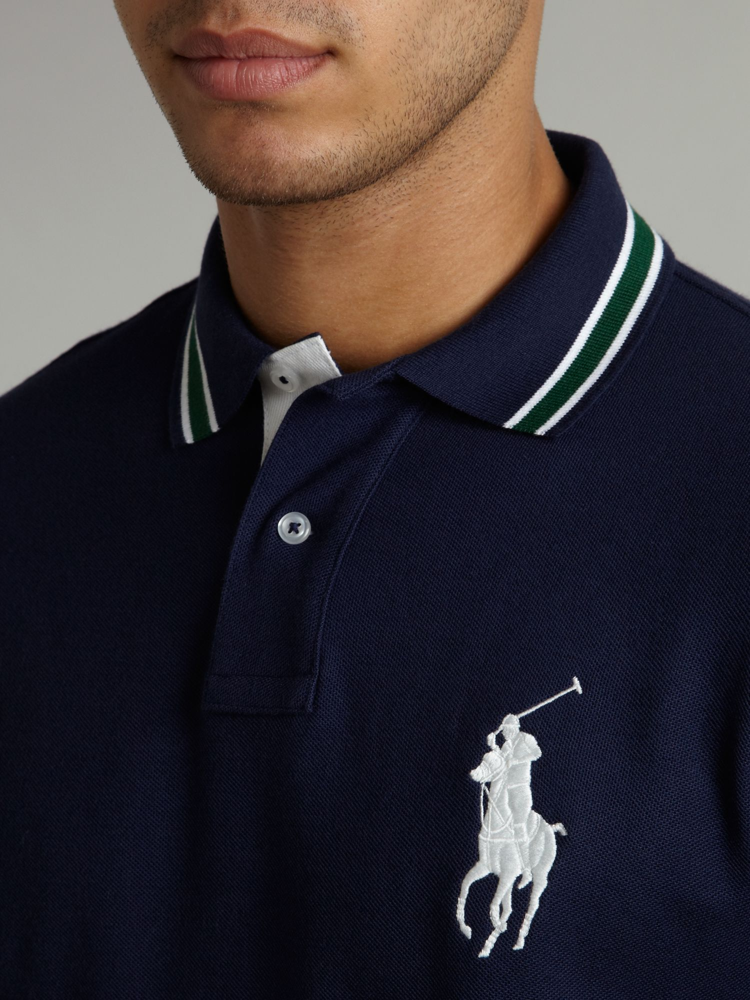 polo ralph lauren wimbledon big pony polo shirt in blue. Black Bedroom Furniture Sets. Home Design Ideas