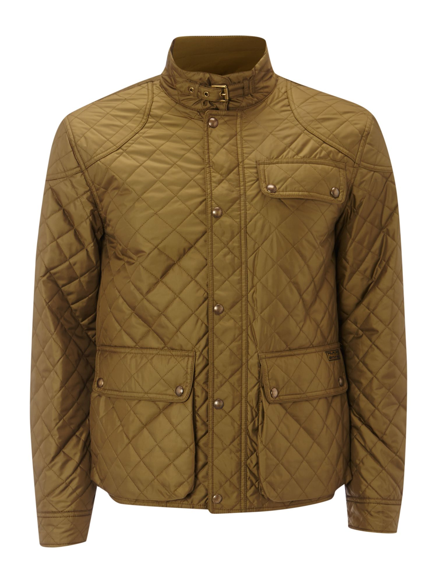 polo ralph lauren cadwell quilted bomber jacket in natural. Black Bedroom Furniture Sets. Home Design Ideas