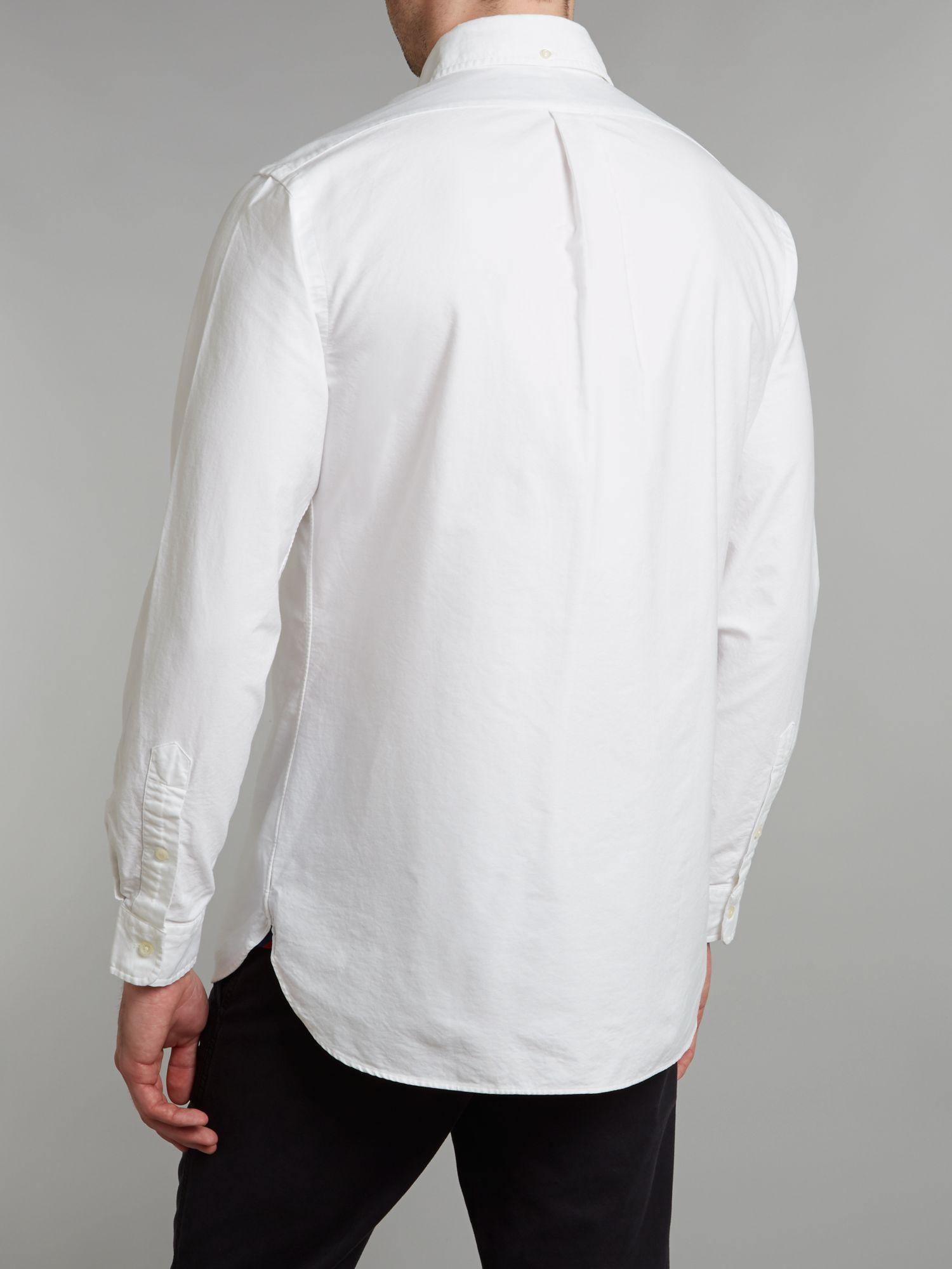 Lyst polo ralph lauren long sleeved slim fit oxford for Men oxford slim fit long sleeve shirt