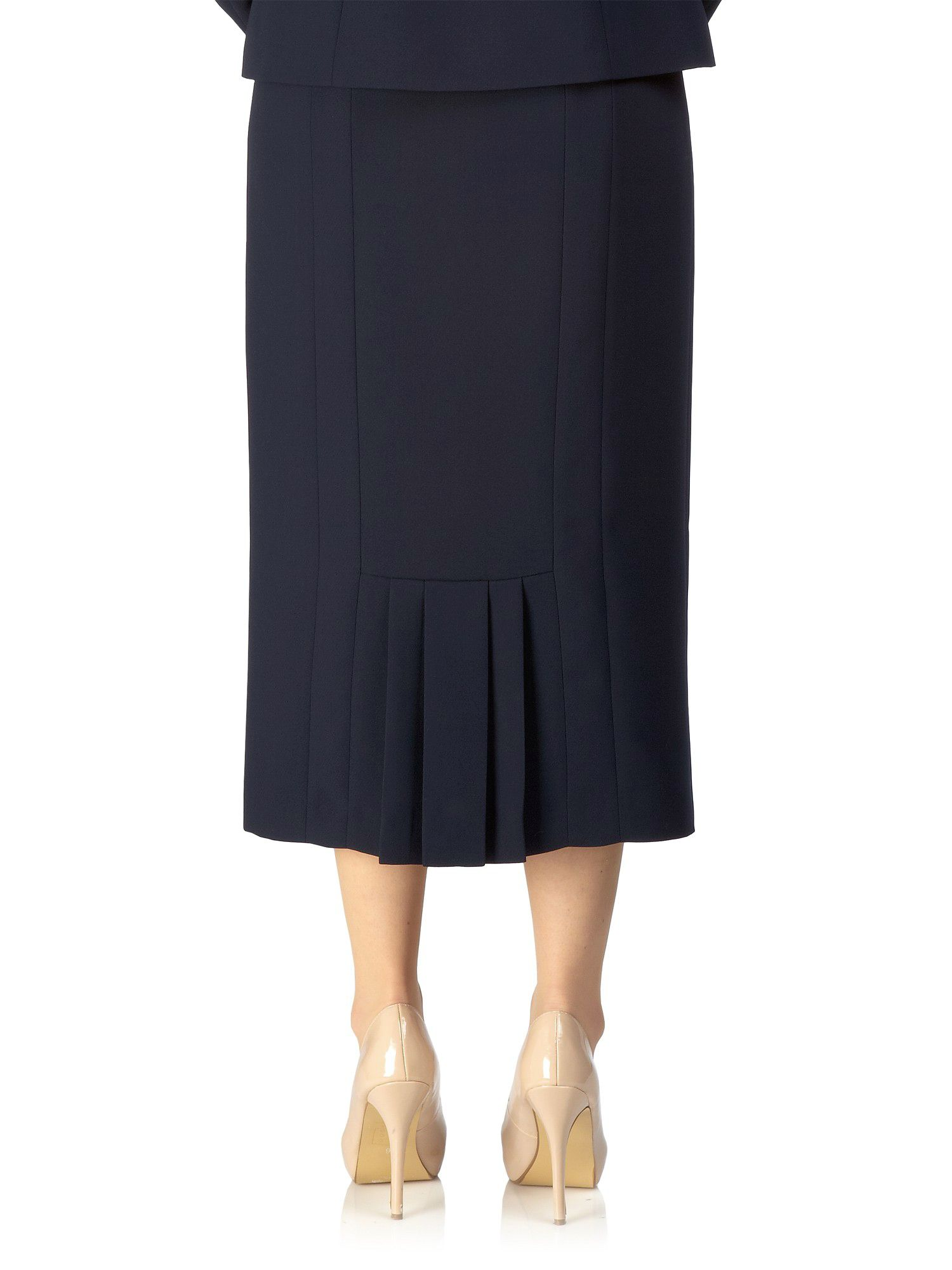 Precis petite Navy Long Pencil Skirt in Blue | Lyst