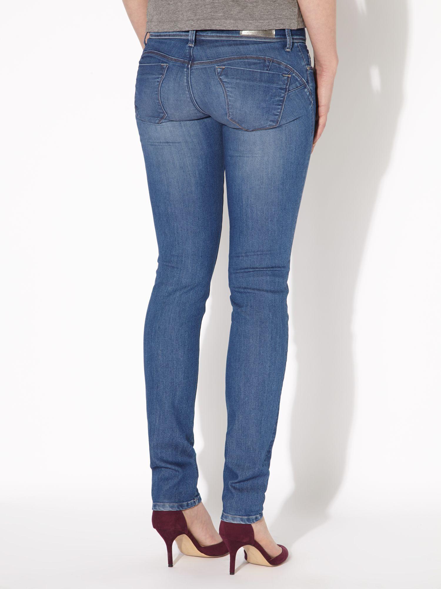 salsa colette skinny jeans in blue lyst. Black Bedroom Furniture Sets. Home Design Ideas