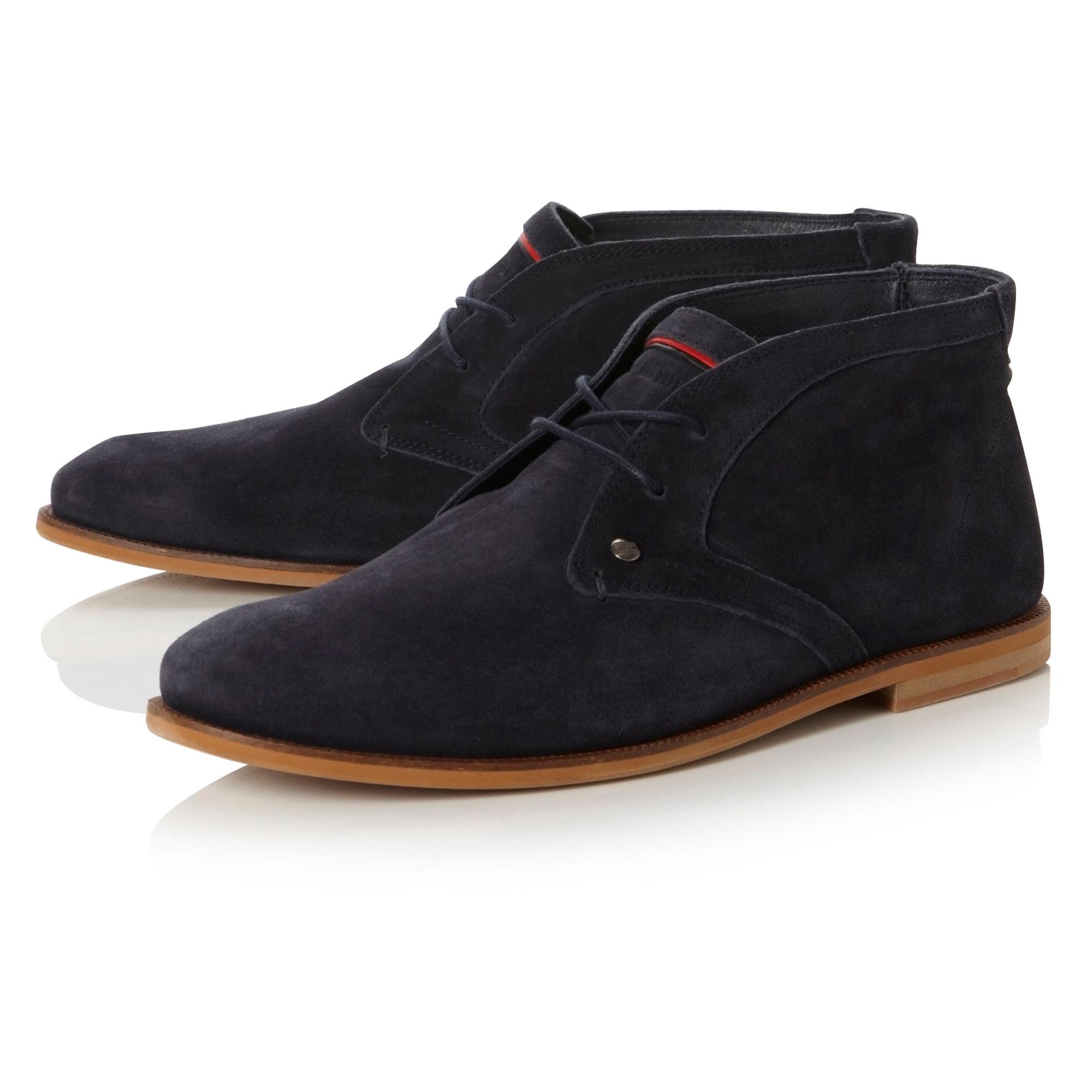 tommy hilfiger adam 4b natural sole desert boots in blue. Black Bedroom Furniture Sets. Home Design Ideas