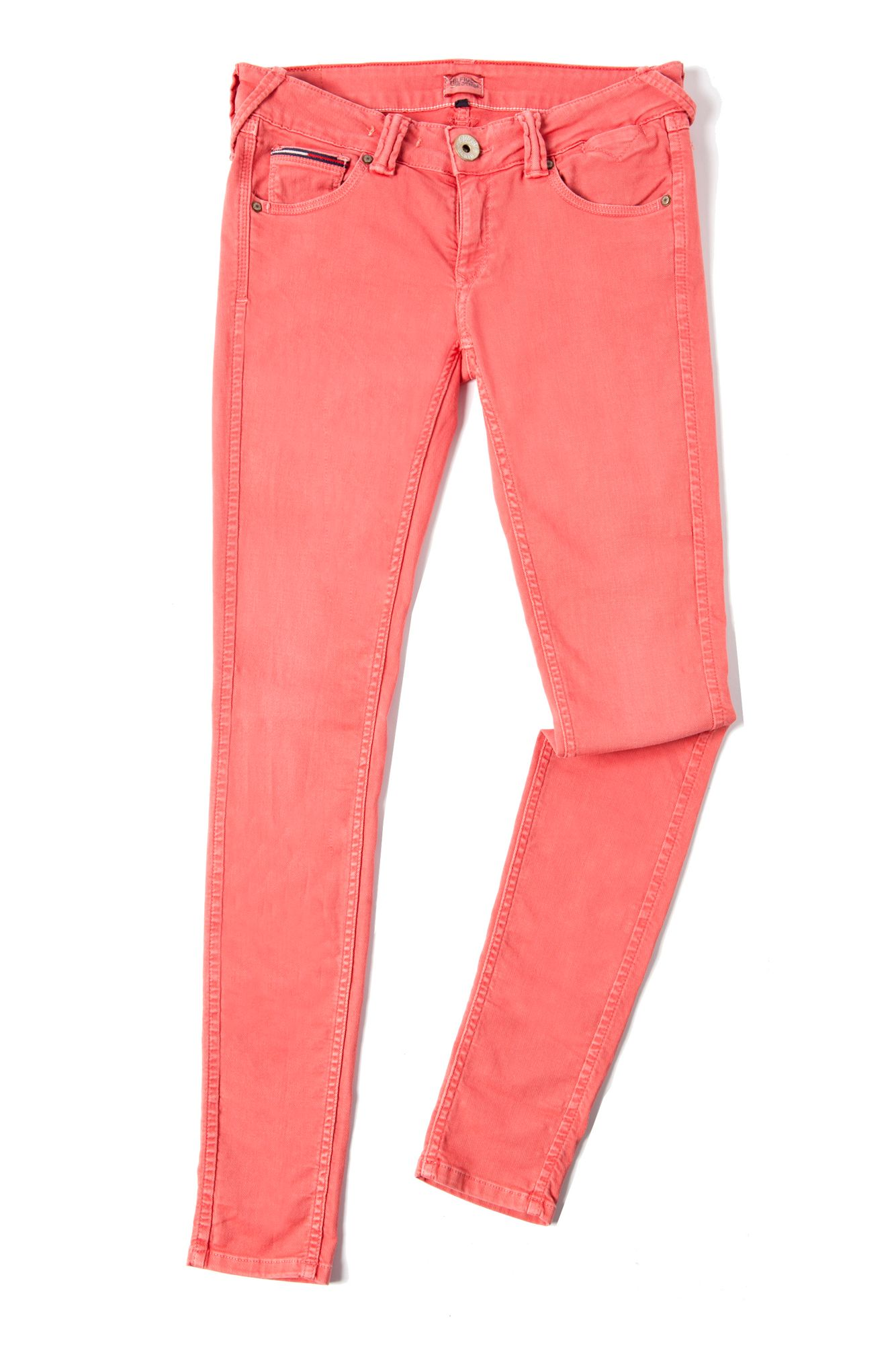 tommy hilfiger sophie skinny jean in pink lyst. Black Bedroom Furniture Sets. Home Design Ideas