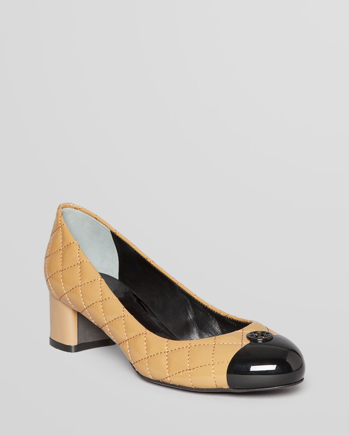 ad956193ebb6 Lyst - Tory Burch Quilted Pumps Kaitlin Low Heel in Brown