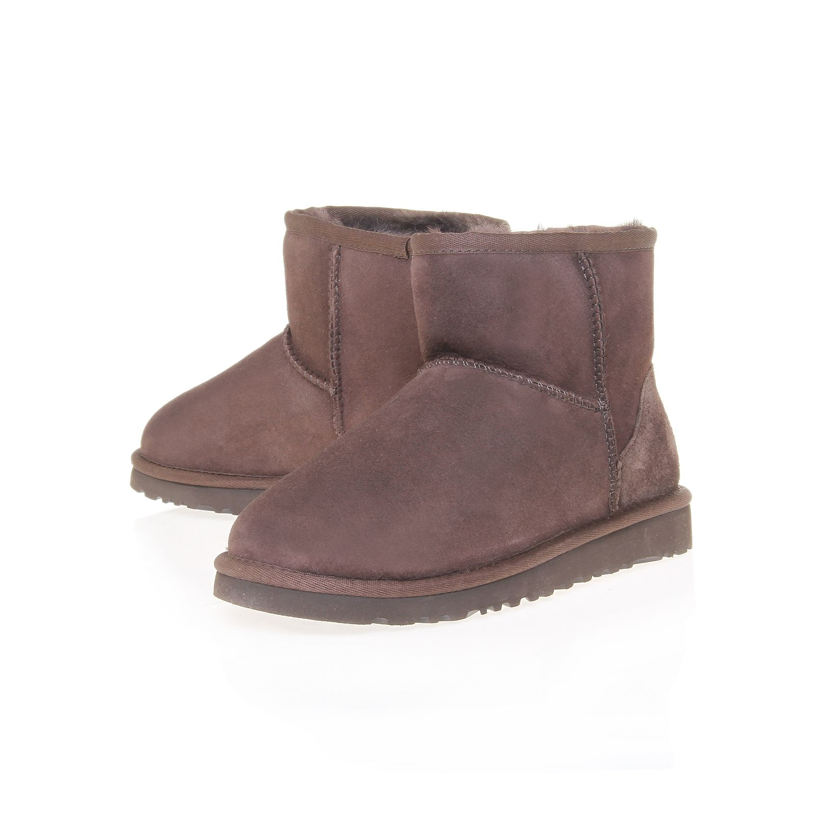 ugg mini chocolate boots in brown lyst