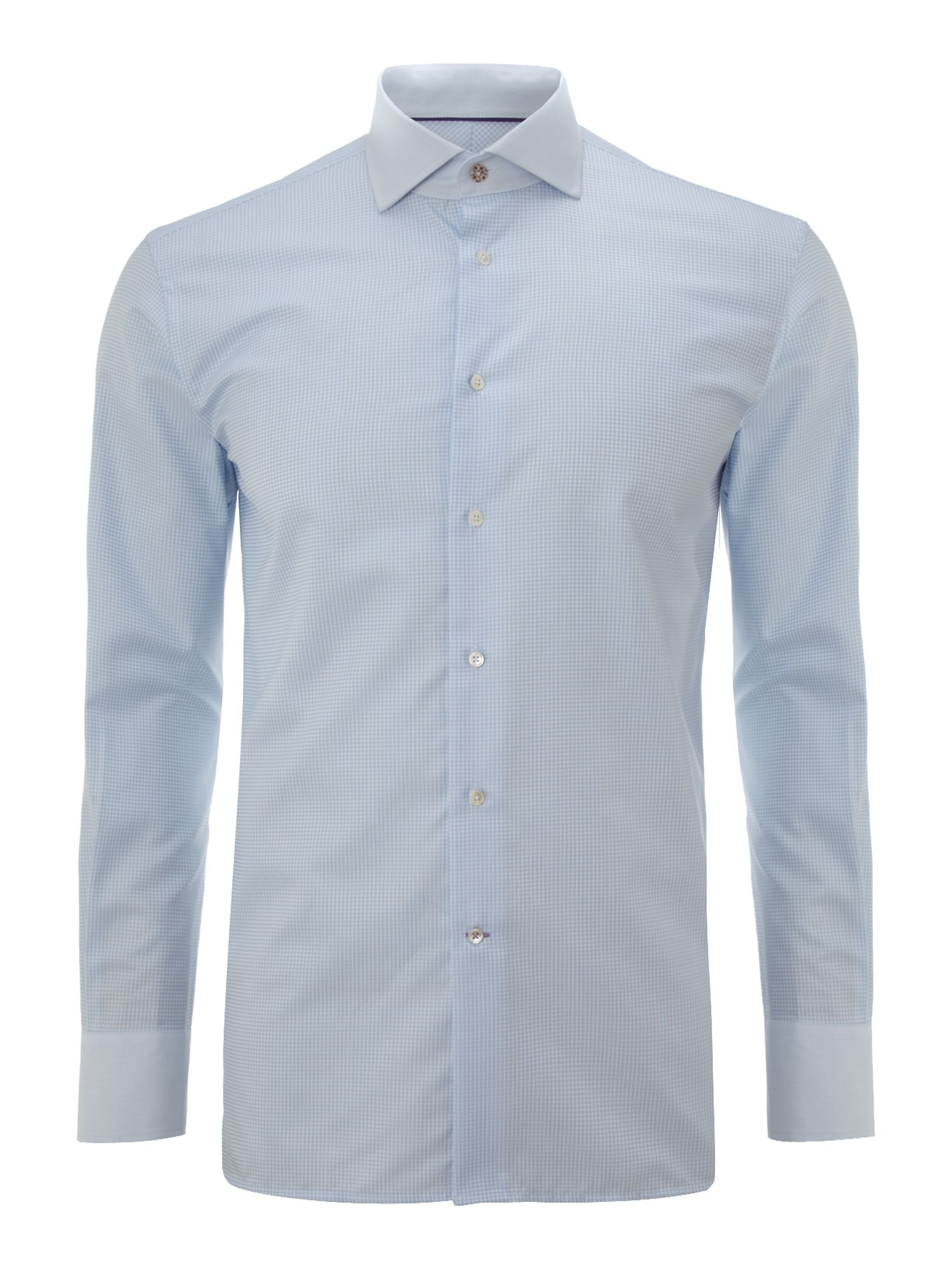 Without prejudice sh small check shirt with contrast for Small collar dress shirt