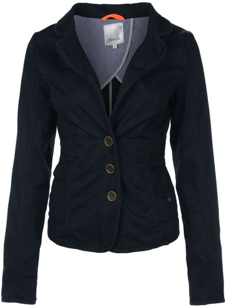 Bench Womens Blazzer Blazer Jacket In Blue Dark Navy Lyst