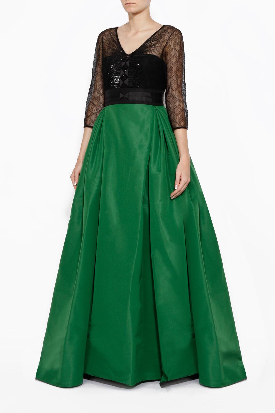 Lyst Carolina Herrera 34 Contrast Ball Gown In Green