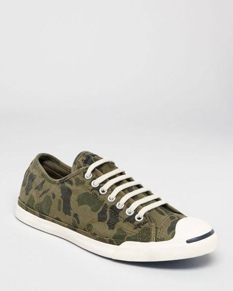 Converse Jack Purcell Lp Camo Sneakers In Green For Men