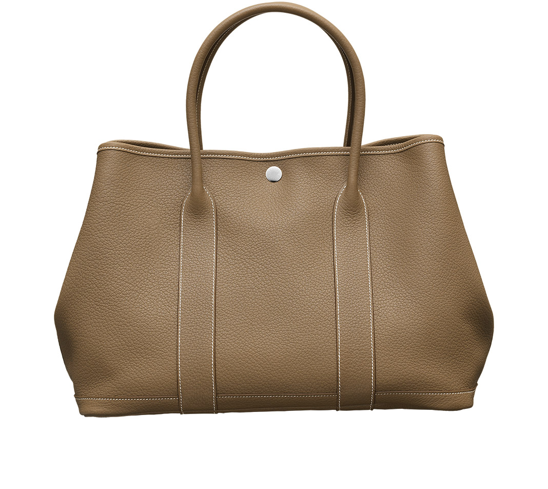 herm s garden party bag in beige taupe lyst. Black Bedroom Furniture Sets. Home Design Ideas