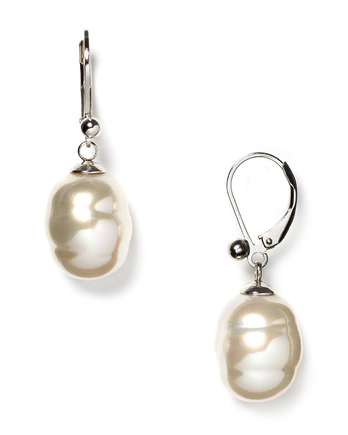 Majorica Baroque Simulated Pearl Drop Earrings In White Lyst