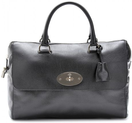 Mulberry Del Rey Leather Tote in Black