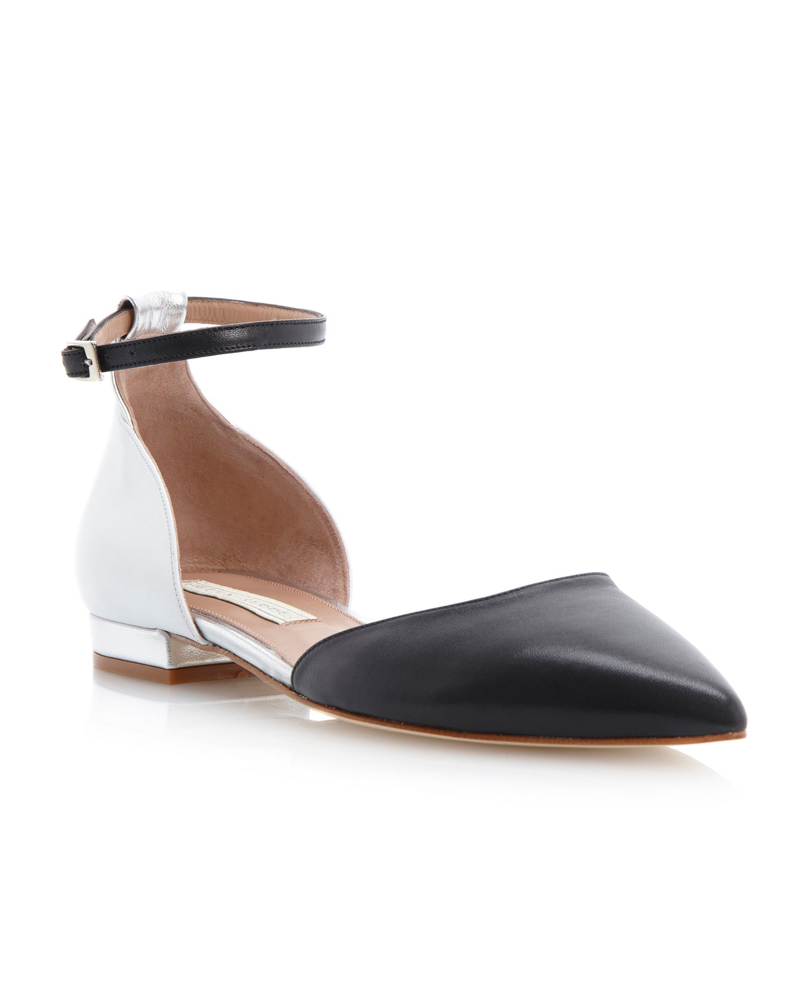 Pied A Terre Gardinia Pointed Ankle Tie Casual Shoes In