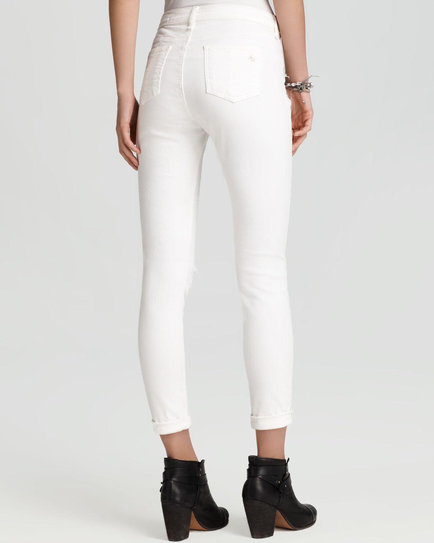 Model Women Jeans High Elastic Cotton Womens Black High Waist Torn Jeans