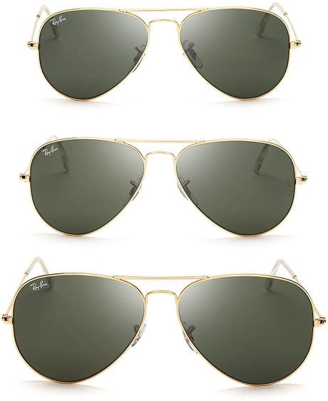 ray ban aviator which size