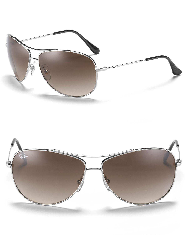 ff4ca428b2 Ray-Ban Bubble Wrap Aviator Sunglasses in Metallic - Lyst