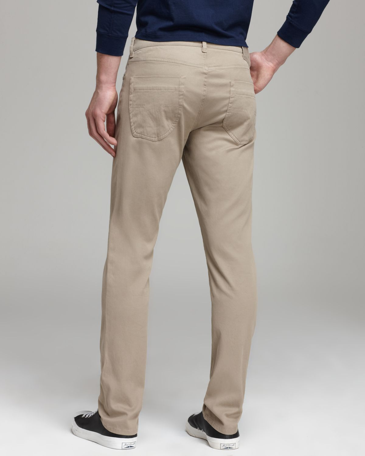 Vince Soft Stretch Twill Pants in Natural for Men | Lyst