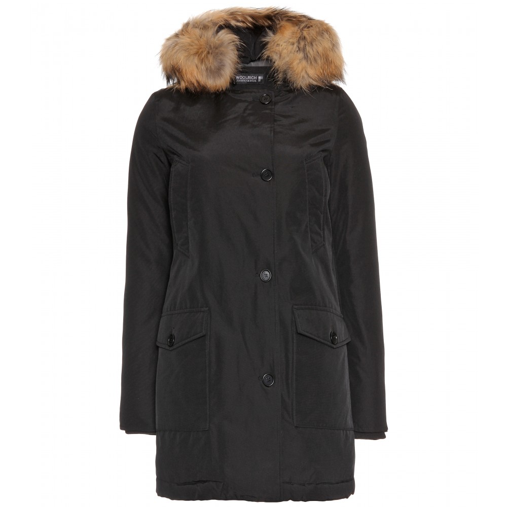 woolrich w 39 s arctic parka df in black lyst. Black Bedroom Furniture Sets. Home Design Ideas