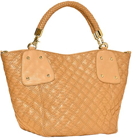 big buddha griffin quilted tote bag in brown lyst