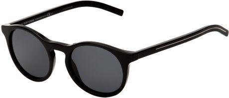 Dior Homme Round Frame Sunglasses in Black for Men Lyst