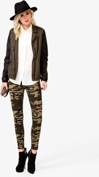 New Lyst - Forever 21 Camo Skinny Jeans