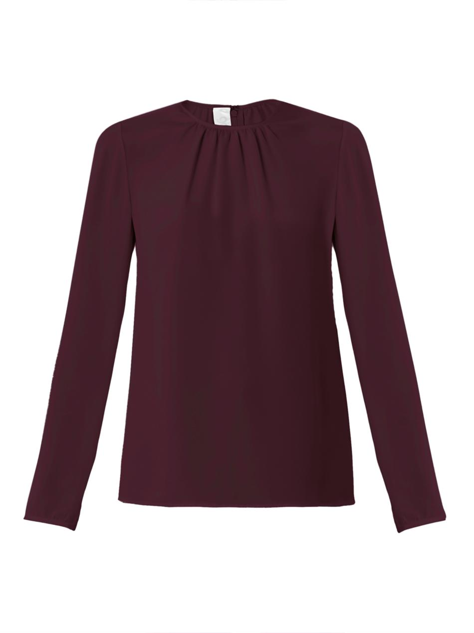 Lyst Goat Sophia Longsleeve Blouse In Red