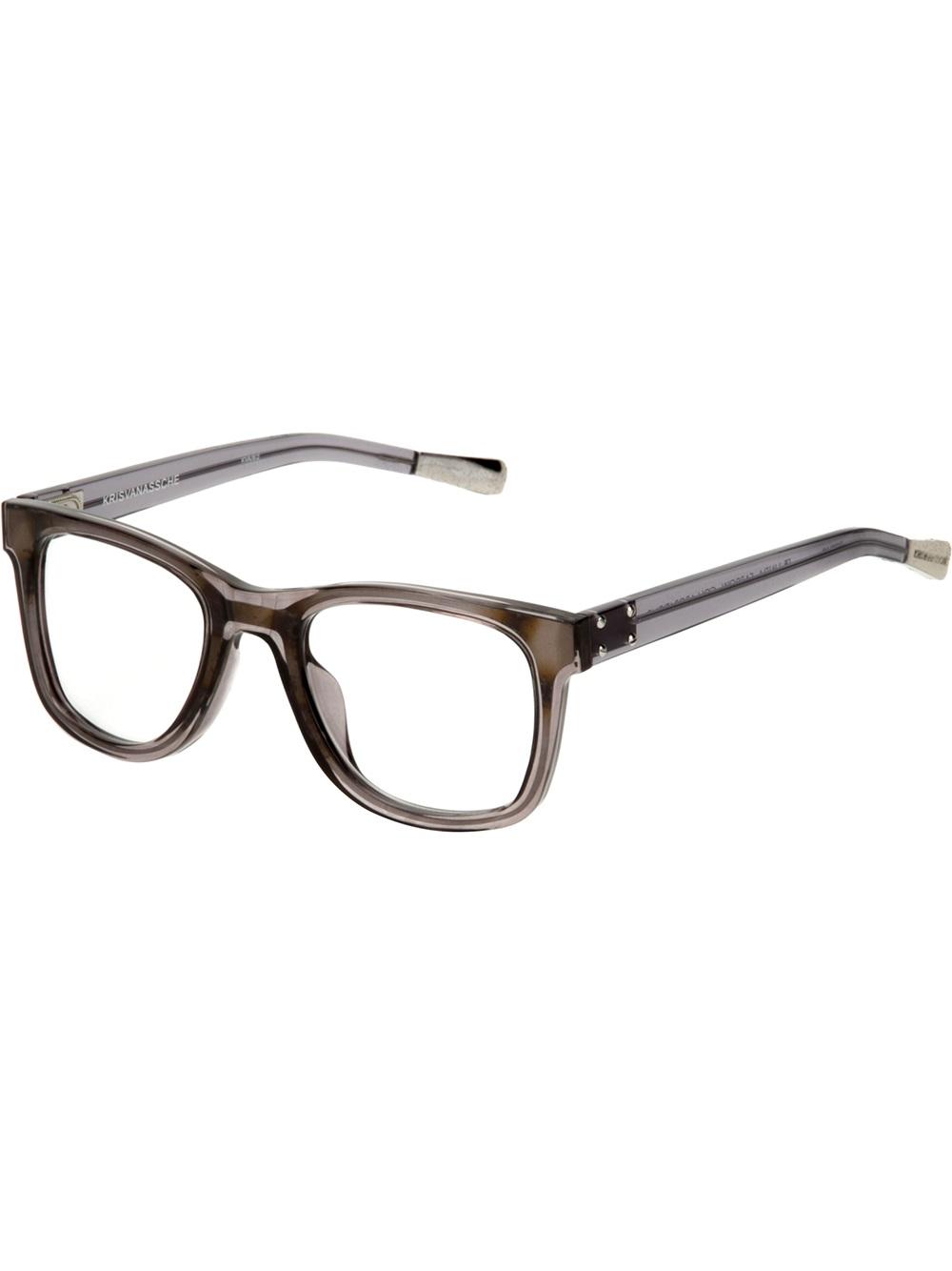 Vans Glasses Frame : Kris van assche Square Frame Glasses in for Men (grey) Lyst