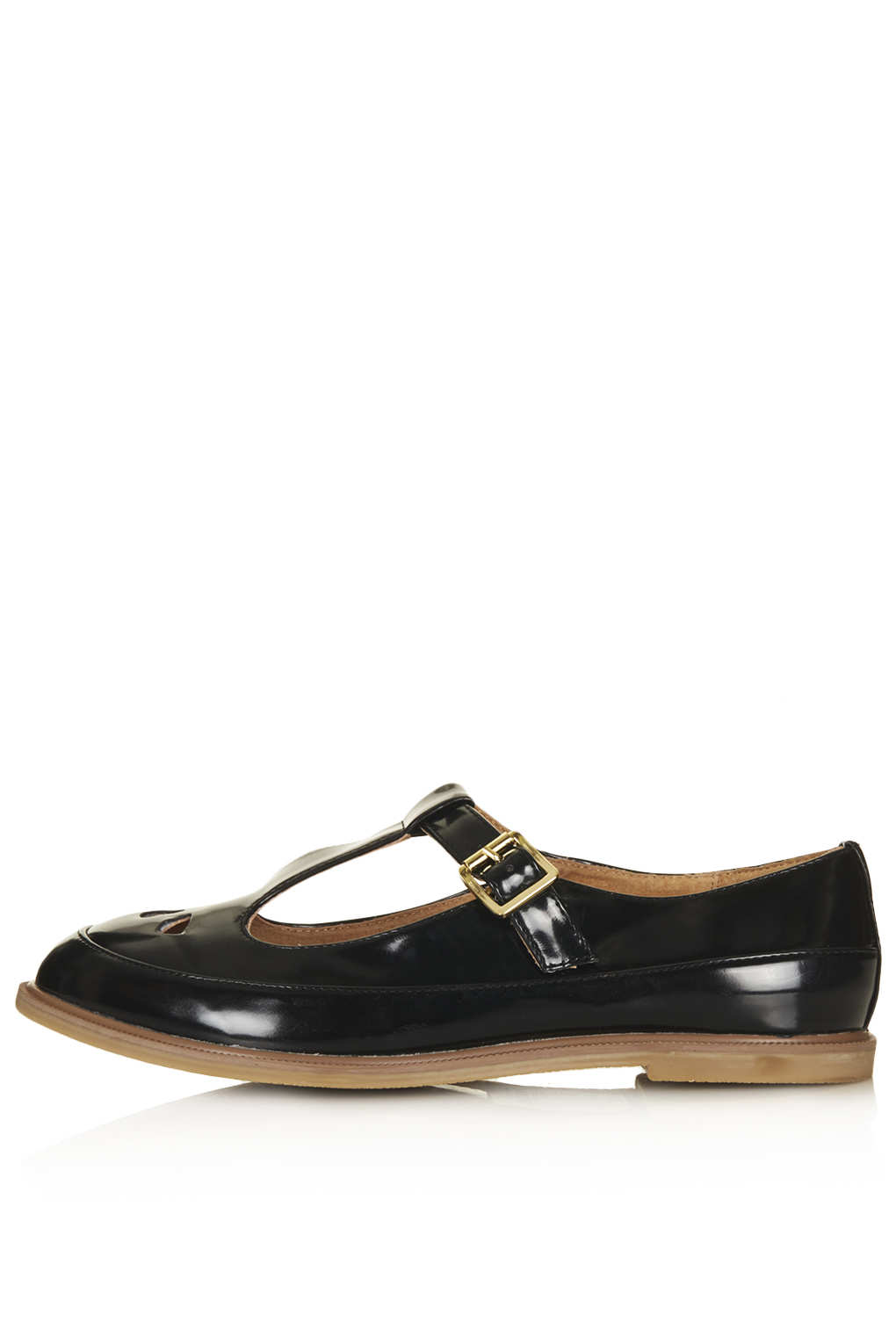 Lyst Top Martie Patent T Bar Geek Shoes In Black