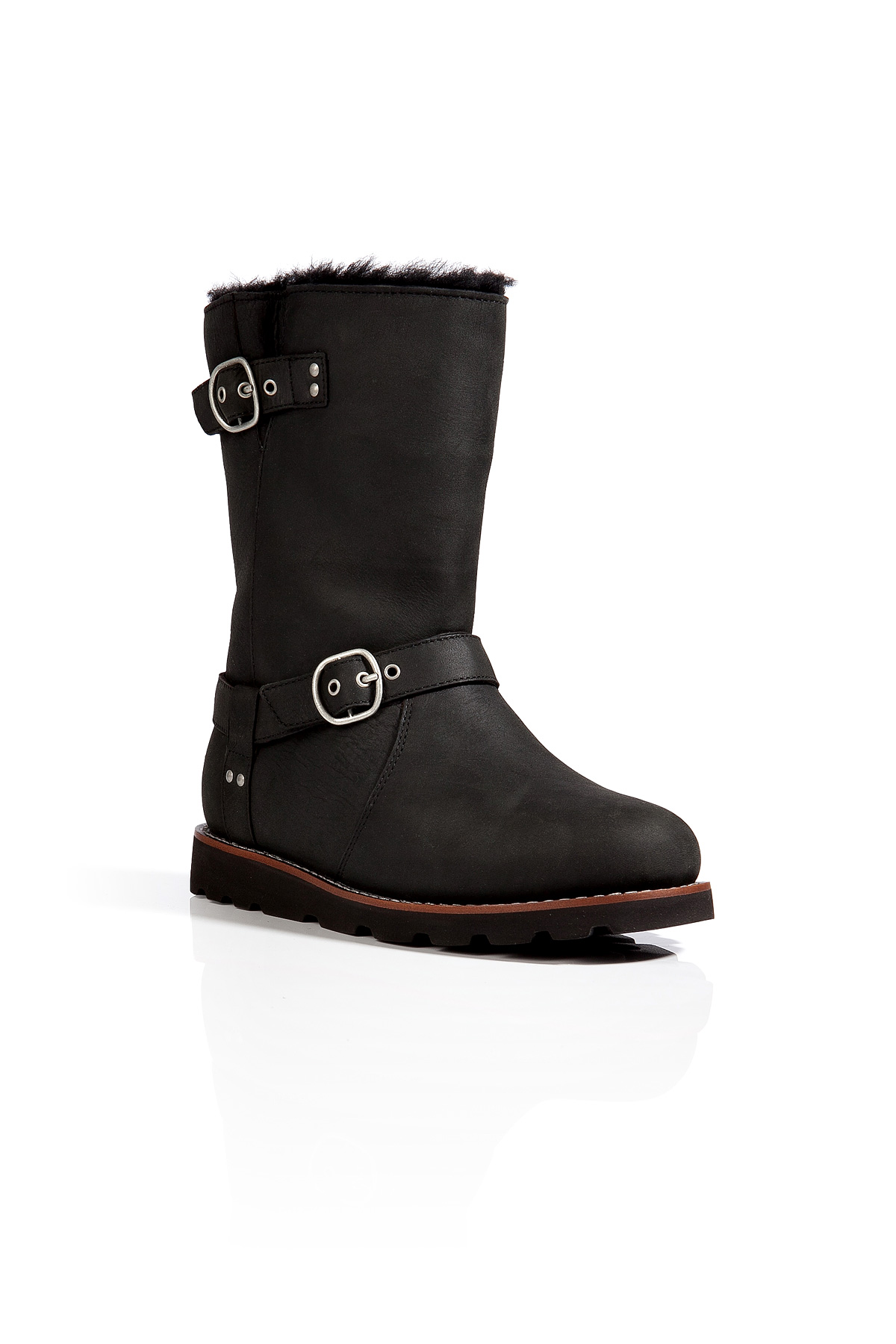 Ugg Leather Noira Boots In Black In Black Lyst