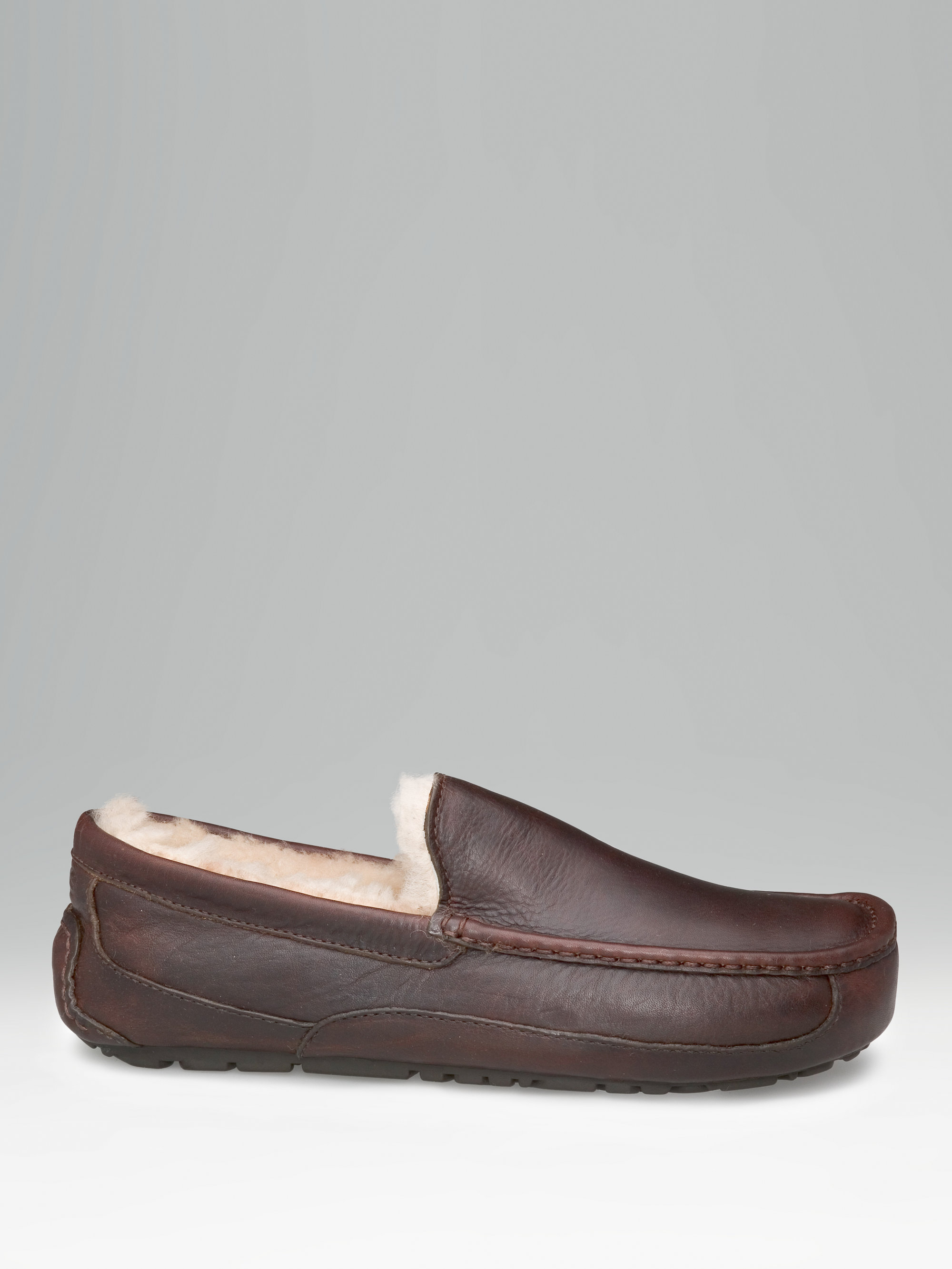 bf58c3bdcdf0 Lyst - UGG Mens Ascot Leather Slippers in Brown for Men