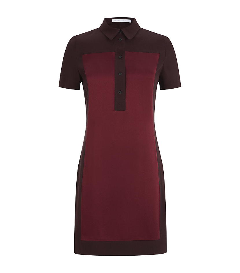 Victoria Victoria Beckham Polo Shirt Tunic Dress In Red