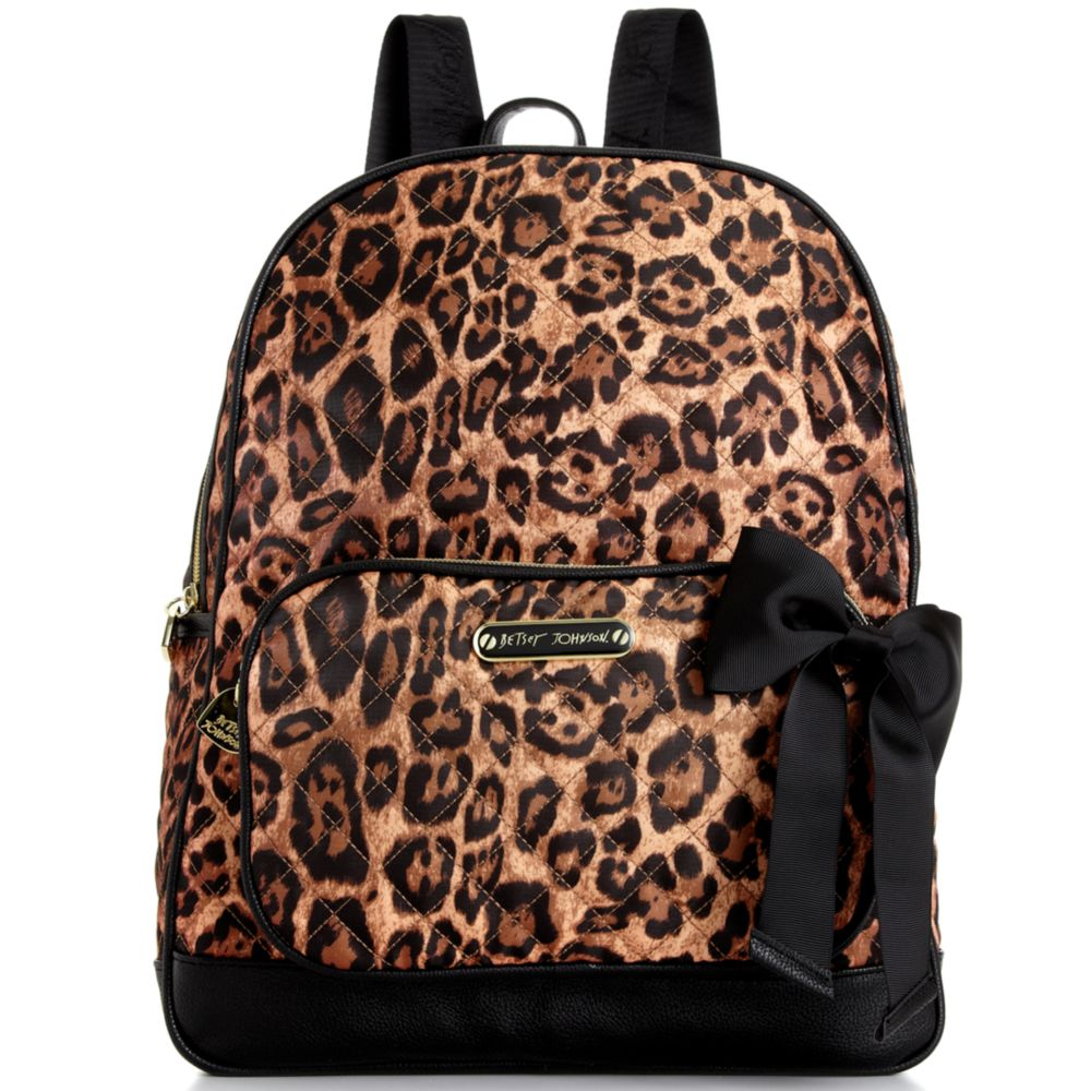 Lyst - Betsey Johnson Animal Quilted Backpack 8d2cad32de259