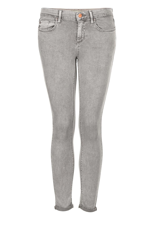 topshop petite moto acid grey leigh jeans in gray grey. Black Bedroom Furniture Sets. Home Design Ideas