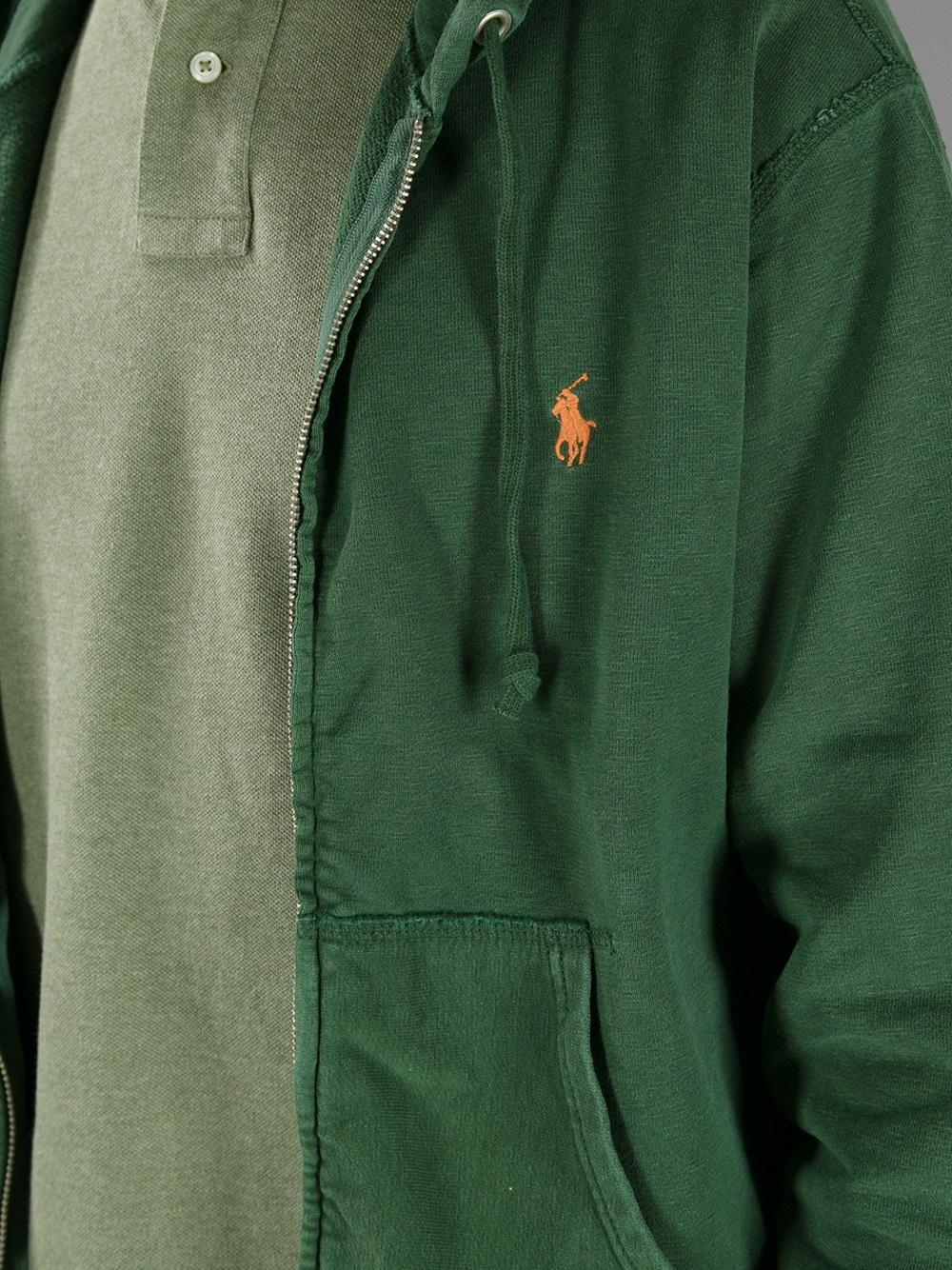 Ralph Lauren Chevron Men Navy Hoody Darkgreen