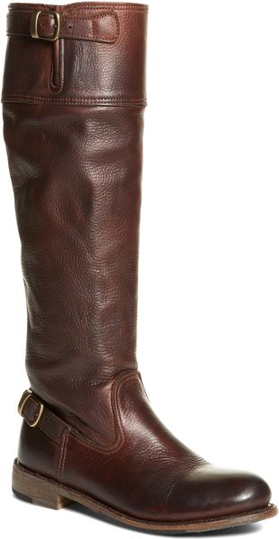 brothers vintage calfskin flat boot in brown