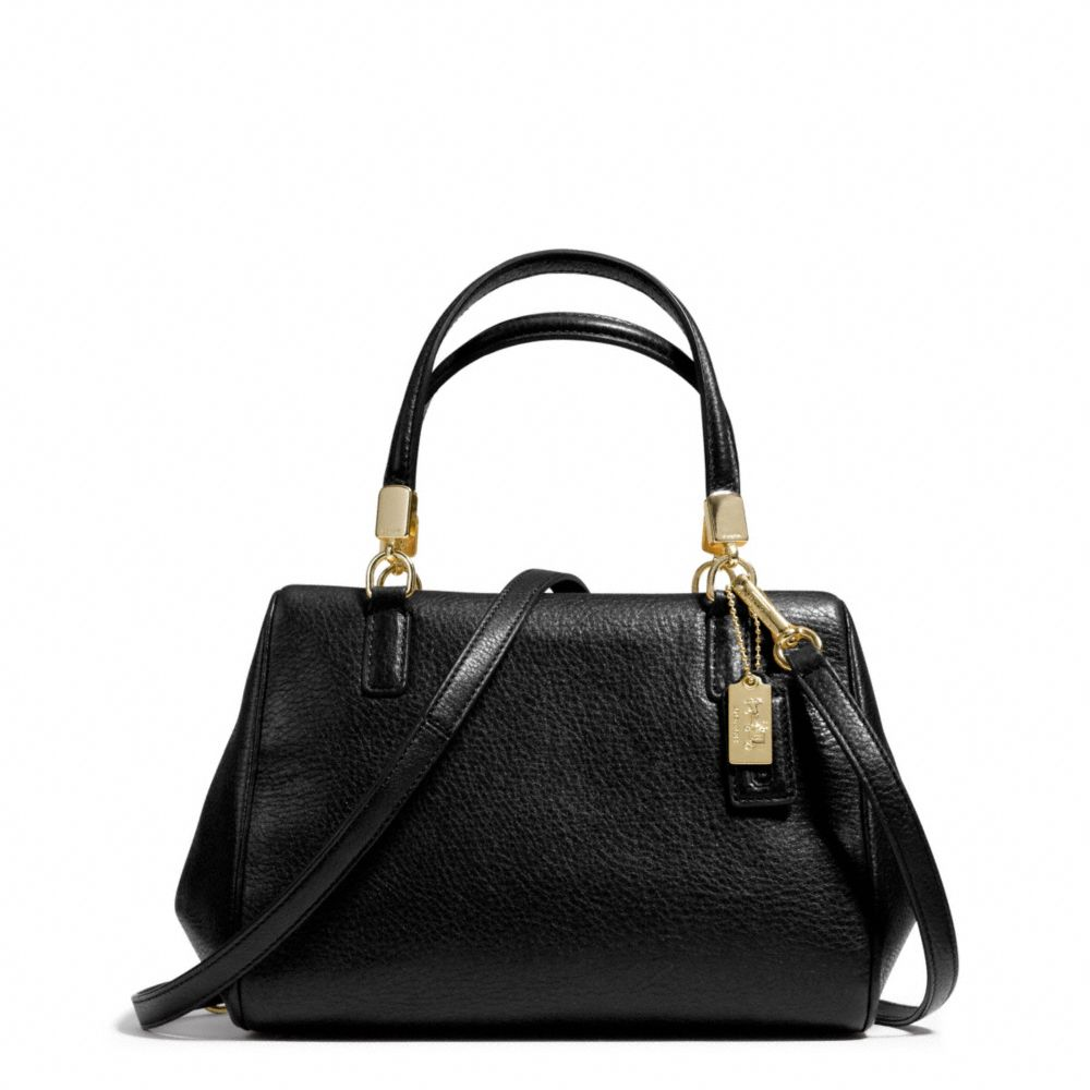 Coach Madison Mini Satchel in Leather in Black | Lyst
