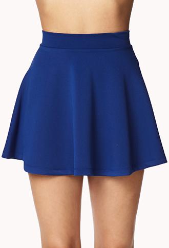 ae3dcc5b430 Forever 21 Ponte Knit Skater Skirt in Blue - Lyst