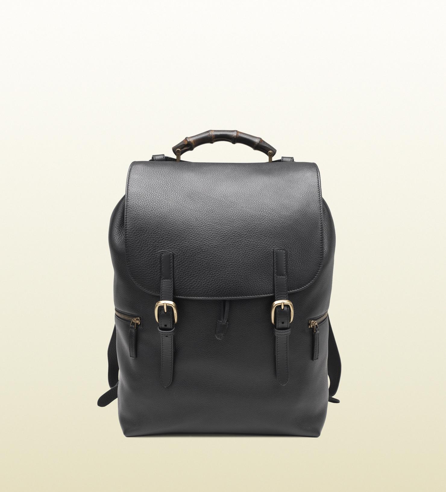 d6a4272d6 Gucci Black Leather Backpack in Black for Men - Lyst