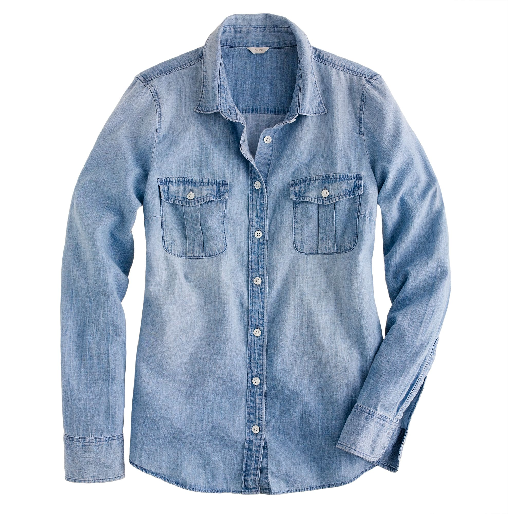Chambray Dress Shirt Fabric Obviously, the denim that we are all most familiar with is the kind used to make jeans or 90's style denim jackets. This denim is generally very heavy, and in most cases would not make for a comfortable shirt.