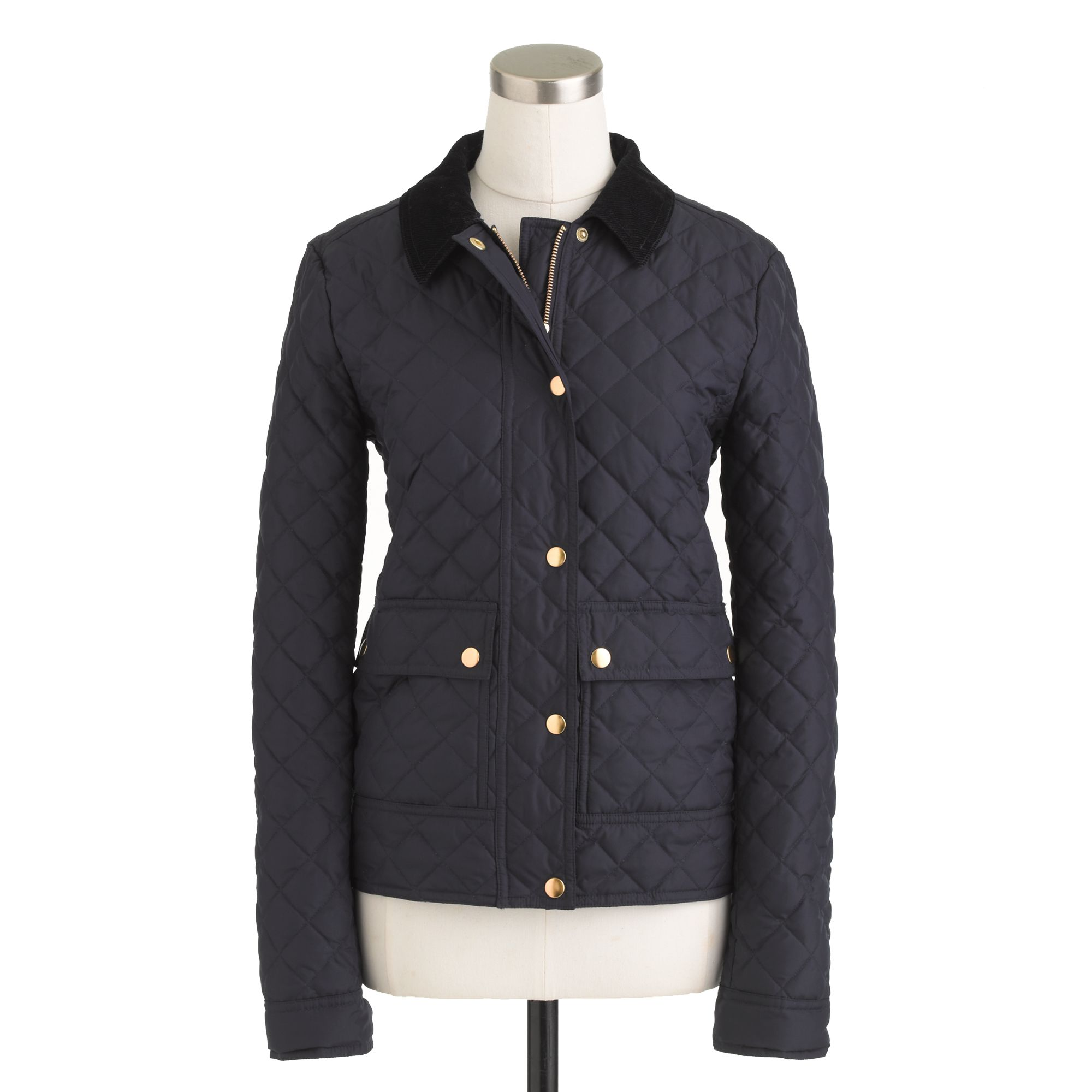 J Crew Tall Quilted Tack Jacket In Blue Lyst