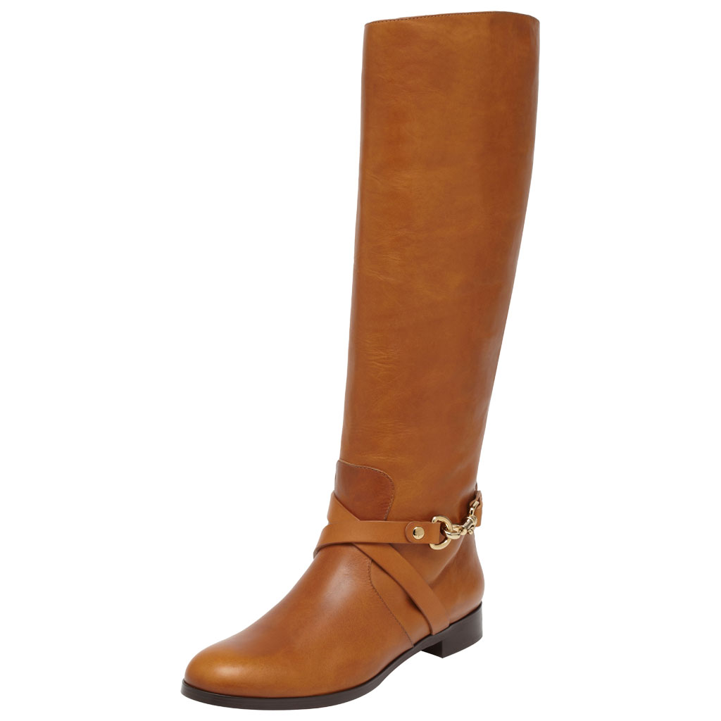mulberry dorset flat knee boot in brown lyst