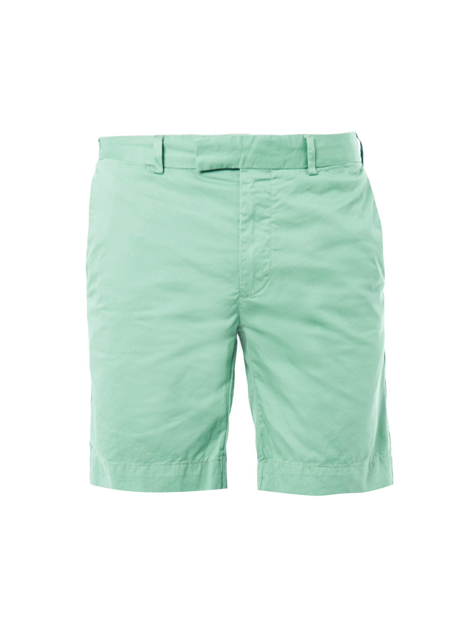 Polo ralph lauren Slimfit Cotton Shorts in Green for Men | Lyst
