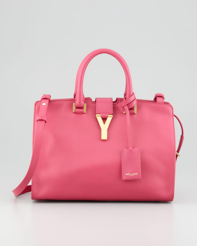 6bc5c56be73e Lyst - Saint Laurent Y-Ligne Cabas Mini Satchel Bag Pink in Pink