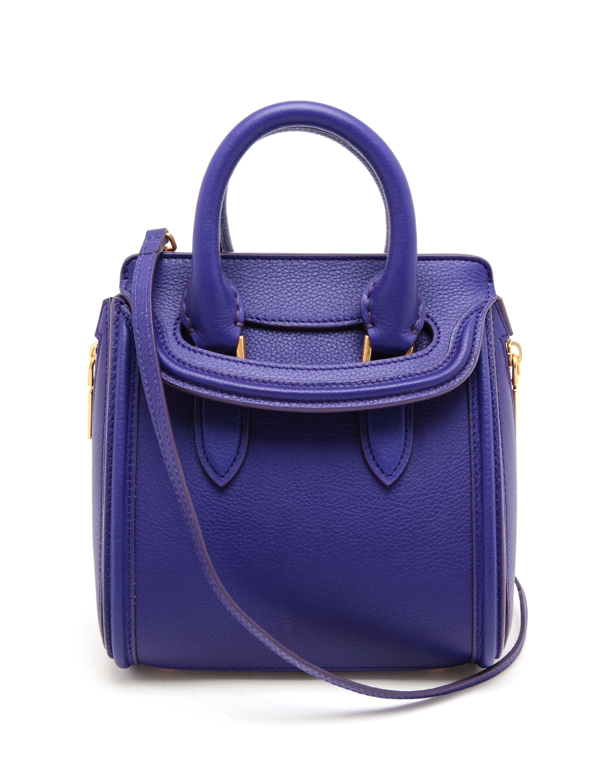 Alexander Mcqueen Heroine Mini Leather Bag in Blue | Lyst