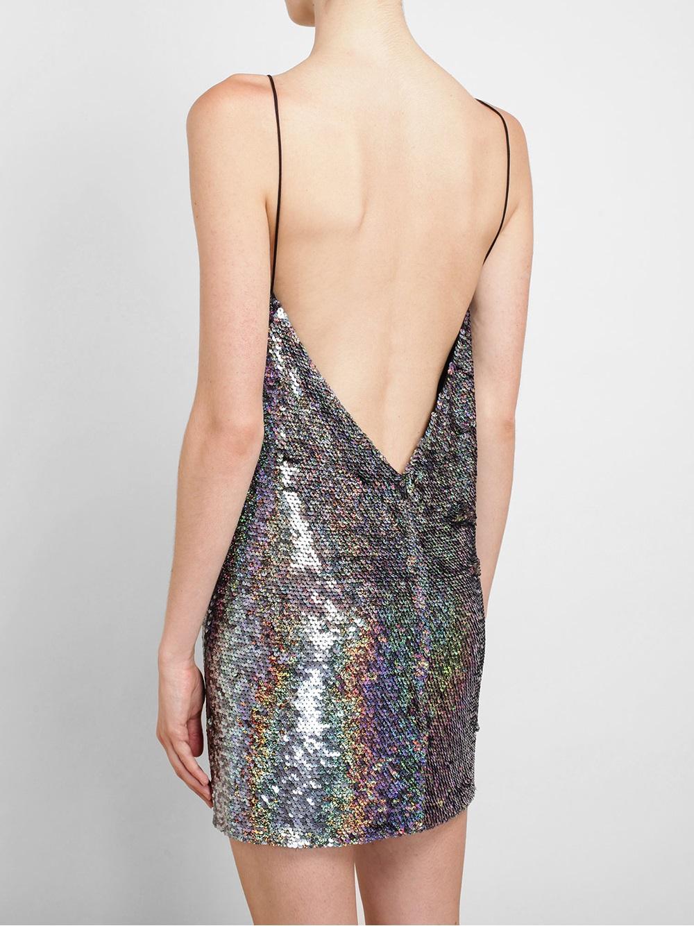 Ashish Holographic Sequin Slip Dress in Metallic - Lyst