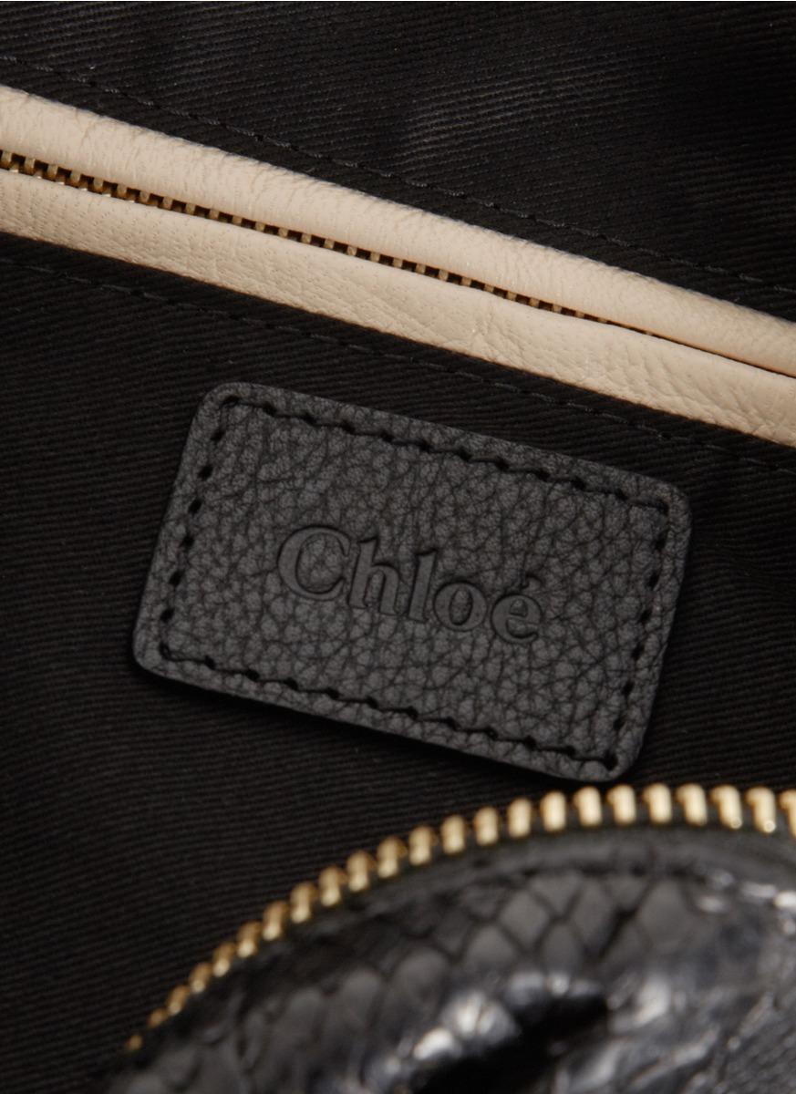 cheap chloe bags uk - chloe python medium paraty satchel, shop chloe online