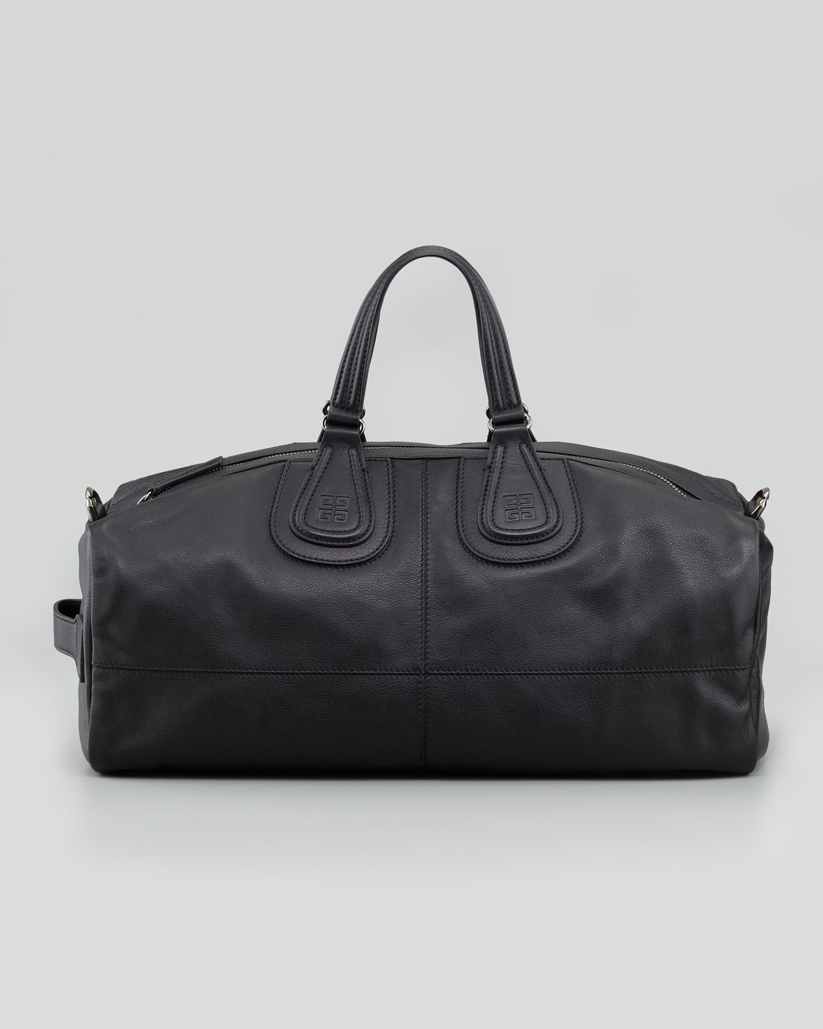 Givenchy Large Mens Leather Gym Bag Black In Black For Men