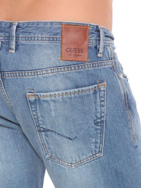 Guess Rebel Bleach Jeans In Blue For Men Light Blue Lyst