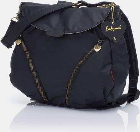 storksak babymel ruby convertible backpack diaper bag in black black nylon lyst. Black Bedroom Furniture Sets. Home Design Ideas